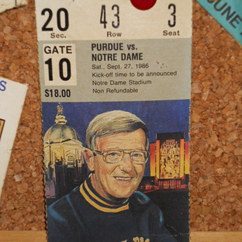 Purdue vs Notre Dame ticket stub Sept.27 1986 - Football