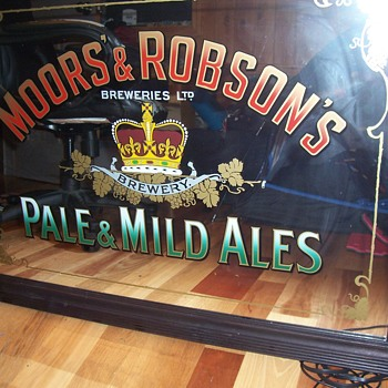 MOORS` & ROBSON`S PALE & MILD ALES MIRROR SIGN - Advertising