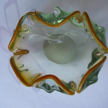 Vintage Crystal Bowl  - Art Glass