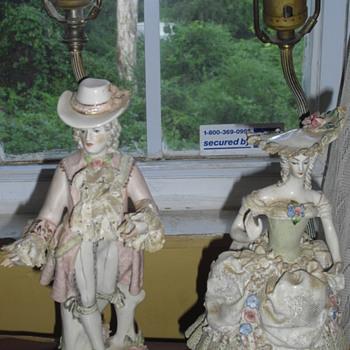 antique table lamps - Lamps