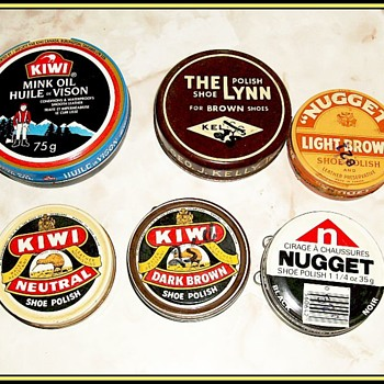 An Assortment of -- Old SHOE POLISH TINS - Advertising