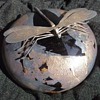 Michael Harris Isle of Wight Azurene Paperweight Silver Dragonfly