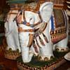 Spectacular pair of Pottery Elephant Garden Seats