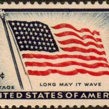 "1957 - ""Old Glory"" Postage Stamp (US) - Stamps"