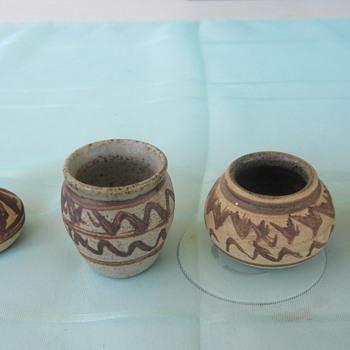 Miniture Pottery vases - Pottery