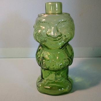 green glass bottle - Bottles