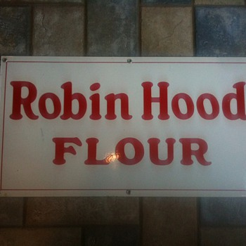 Robin Hood Flour Porcelain Sign - Advertising