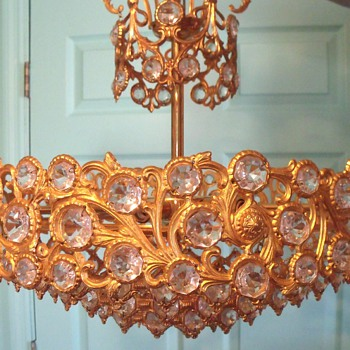 Crystal and Gold? Chandelier its a mystery