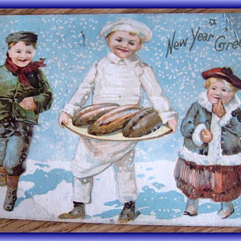 1907 - NEW YEAR GREETING Card - Christmas