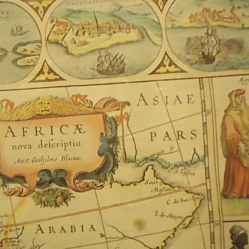 Dutch Africa map by Hammond printing N.Y. around 1900 from original plate about 1550