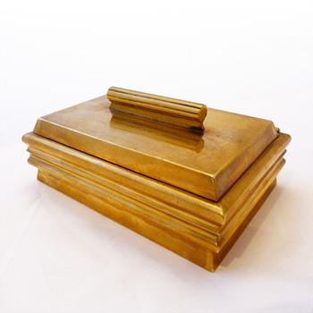 Brass cigarette box, Josef Hoffmann (Wienner Werkstätte, 1920-1925) - Art Deco