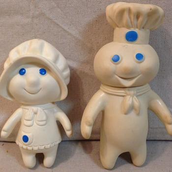 Pillsberry dough boy and girl   - Advertising