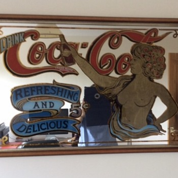 Vintage Coca-Cola Mirror topless lady - Furniture