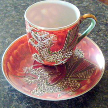 Asian Tiny Cup and Saucer - Asian