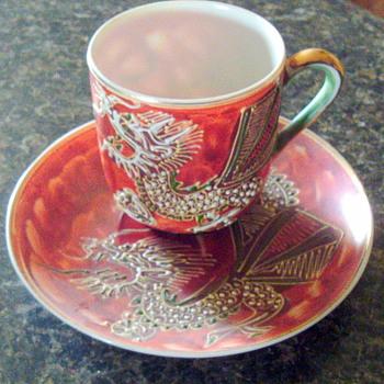 Asian Tiny Cup and Saucer