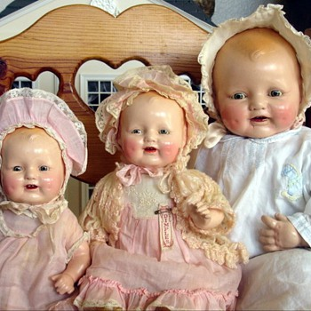Compo Bubbles and Dimples Dolls - Dolls