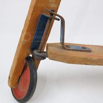Vintage Wooden Push Scooter (pre-skateboarding skateboard!) - Toys
