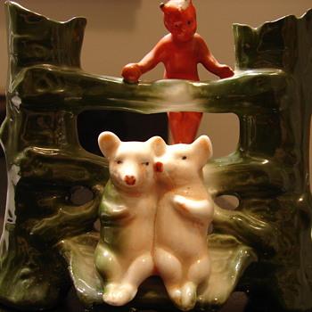 Vintage German Pink Pig Fairing Bud Vase? - Pottery