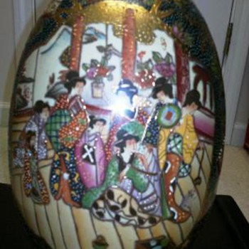 Large Painted  Satsuma  Egg - Asian