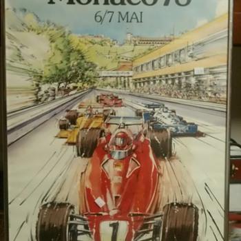 1978 Formula 1 Grand Prix of Monaco Poster - Posters and Prints