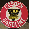 "COSDEN 10 INCH GAS PUMP PLATE ""THANKS GUYS"""
