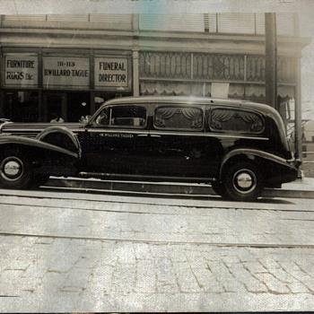 Cadillac Hearse, Scranton, PA 1930s-40s - Art Deco