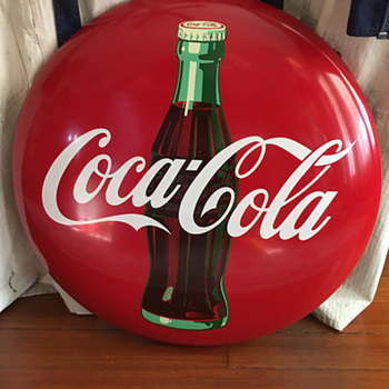 "Coca-Cola 24"" button dated 8-55 - Coca-Cola"