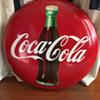 """Coca-Cola 24"""" button dated 8-55"""