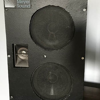 Meyer Sound speakers. - Electronics