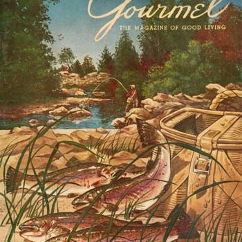 1954 - Gourmet Magazine Cover - Paper