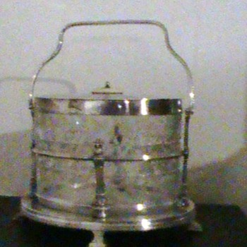 Ice bucket from 1800's I think! Recently discovered this is biscuit decanter - Kitchen
