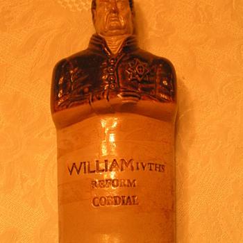 Glazed Stoneware Spirit Flask