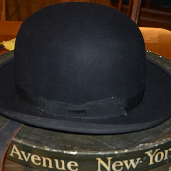 Antique Bowler Hat and Box - Dobb's Fifth Ave