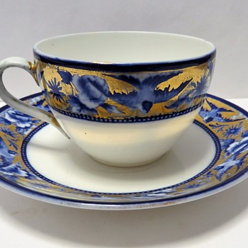 Shelley Late Foley - Tea cup and Saucer- Blue Swallow Pattern - China and Dinnerware