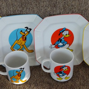 Disney Cups and Plates ~ Made in Japan - China and Dinnerware