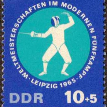 "1965 - East Germany ""Pentathlon"" Postage Stamps"