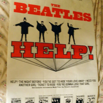 Beatles Help Soundtrack Store Poster - Music Memorabilia