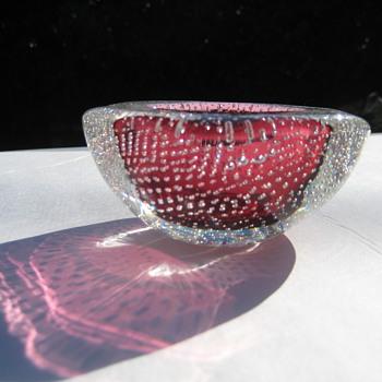 Small mid-century  bullicante bowl - Art Glass