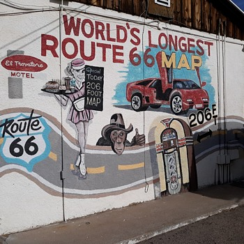 The El Trovatore Motel Kingman Arizona World's Largest Route 66 Map - Photographs