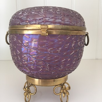 Loetz Metallic-Violet Chiné - Art Glass