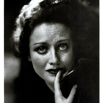 Joan Crawford by George Hurrel Signed and in a matt produced exclusively for Hurrell - Photographs
