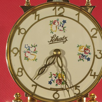 Schatz standard 400 day clock with cream color painted finish - Clocks