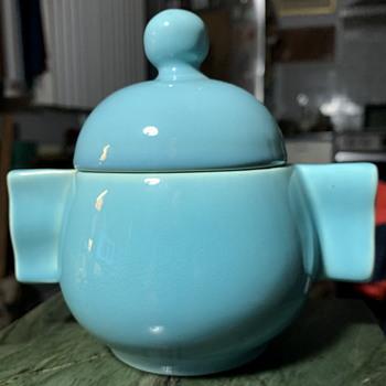 Bright Blue GMB Sugar Bowl - Pottery