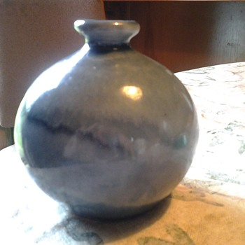 wagar? blue drip vase - Pottery