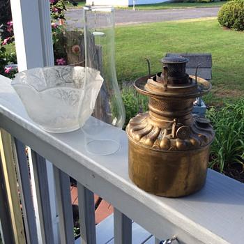Decorative brass lamp