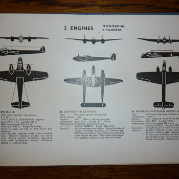 WWII Aircraft Recognition Book - Military and Wartime
