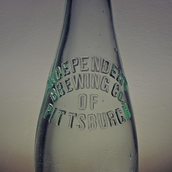 Independent Brewing Company of Pittsburgh Beer Bottle Embossed Aqua Antique D.O.C. Dominick O. Cunningham Glass Pre-Pro - Bottles