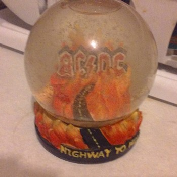 AC DC Snow Globe  - Advertising