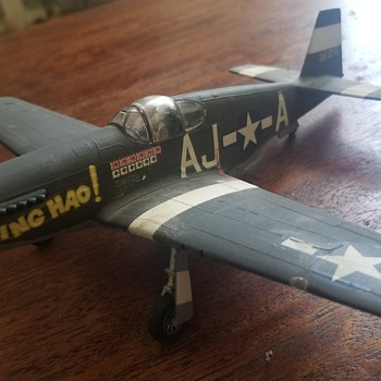 Vintage WW2 built model - James Howard Mustang P- 51?  - Military and Wartime