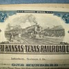 Railroad stock cert. artwork...